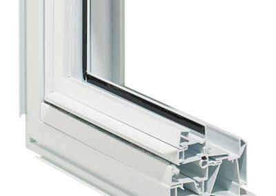 Econova hung window cross section - interior
