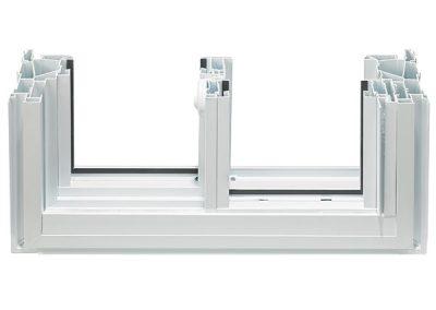 Econova sliding window cross section - interior