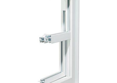 Econova hung window cross section - exterior